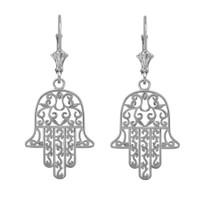 Sterling Silver Hamsa Earrings
