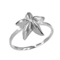 Dainty White Gold Starfish Ring