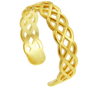 Yellow Gold Trinity Knot Toe Ring
