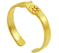 Star Yellow Gold Toe Ring