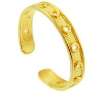 Yellow Gold Designer Toe Ring