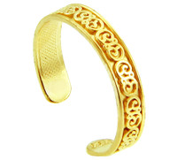 Fancy Floral Yellow Gold Toe Ring