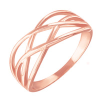 Rose Gold Celtic Knot Thin Band Women's Ring