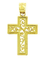 Yellow Gold Cross Pendant - The Life Cross