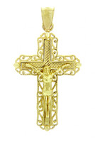 Yellow Gold Crucifix Pendant - The Ever After Crucifix