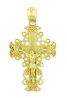 Yellow Gold Crucifix Pendant - The Rejoice Crucifix