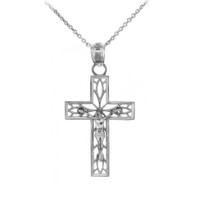Sterling Silver Crucifix Pendant Necklace - The Trust Crucifix