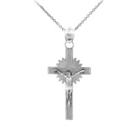 Sterling Silver Crucifix Pendant Necklace- The Star Crucifix