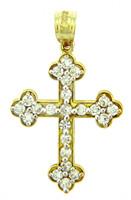 Religious Charms - Bottonee Cross With CZ Stones