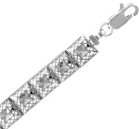 White Gold Bracelet - The Alia Bracelet
