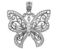 Silver The  Butterfly Charm