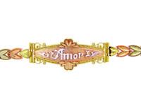 Tri-Color Gold Bracelet - The Amor Diamond Cut Bracelet