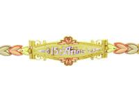 Tri-Color Gold Bracelet - The Fancy 15 Anos Diamond Cut Bracelet