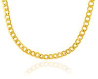 Gold Chains: Hollow Cuban 10K Gold Chain 6.37mm