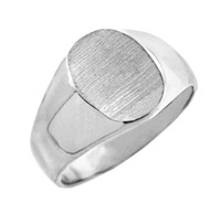 The Brad Solid White Gold Signet Ring