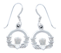 Sterling Silver Claddagh French Wire Earring