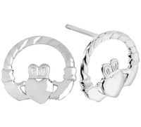 Sterling Silver Classic Claddagh Earring