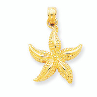14K Gold Starfish Pendant