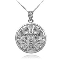 Sterling Silver Celtic Irish Blessing Pendant Necklace