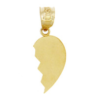 Gold Broken Heart Right Half Pendant