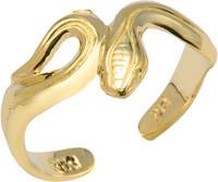 Yellow Gold Snake Toe Ring