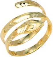 Yellow Gold Coiled Snake Ring