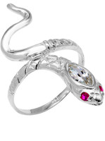 925 Sterling Silver Stone Head Snake Ring