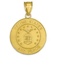US Air Force Gold Coin Pendant
