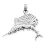 925 Sterling Silver Sailfish Pendant
