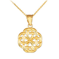 Gold Triquetra Celtic Trinity Pendant Necklace