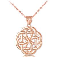 Rose Gold Triquetra Celtic Trinity Pendant Necklace