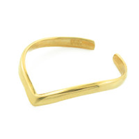Gold Chevron Stackable Toe Ring