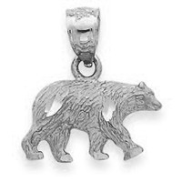 White Gold Bear Pendant