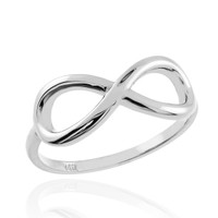 Polished White Gold Infinity Ring