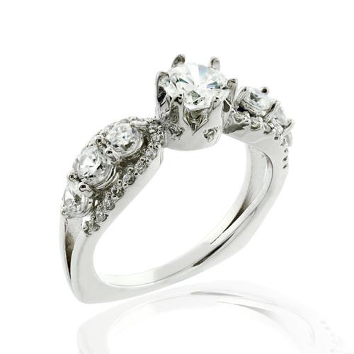 Engagement Ring Diamond Engagement Ring Multi Stone Engagement Ring