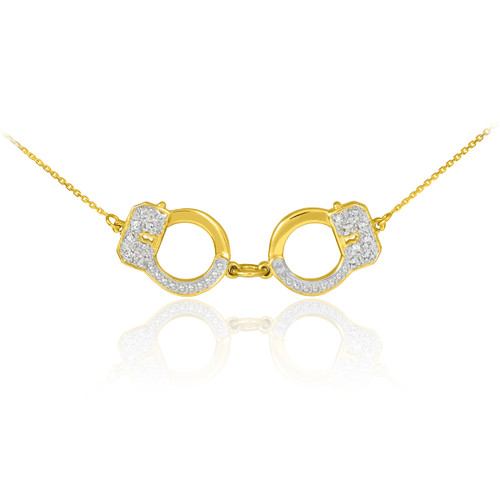 Handcuff Necklace Gold: Gold Handcuffs Necklace
