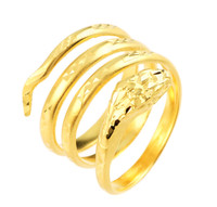 Gold Snake Coiled Ring