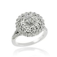 14k White Gold Celtic 1 ct Diamond Engagement Ring