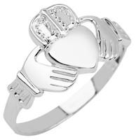 Silver Claddagh Ring Mens
