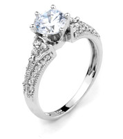 10k Gold  CZ Solitaire Engagement Ring