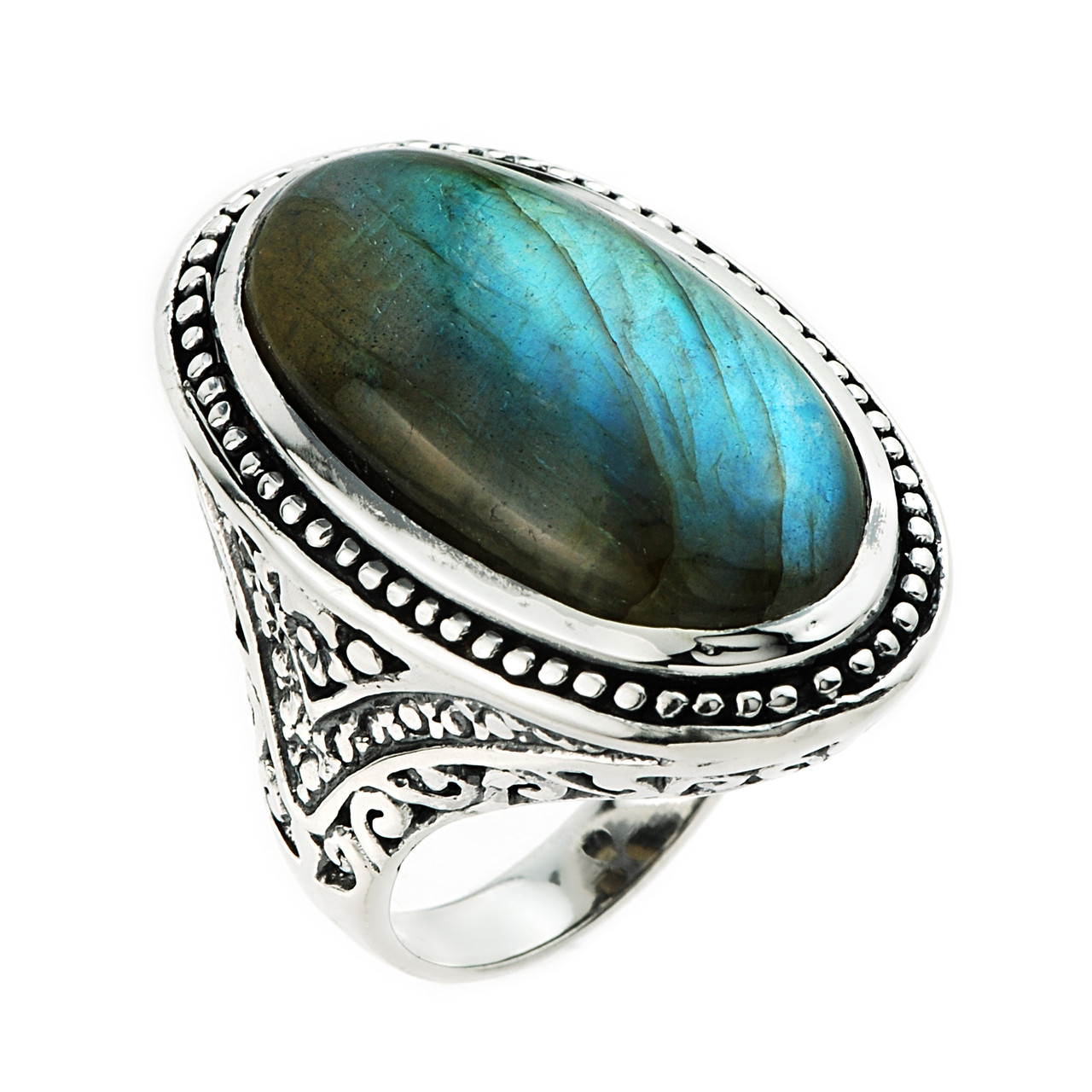Gemstones For Rings: 925 Sterling Silver Unique Oval 22.80ctw Labradorite