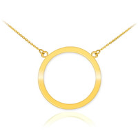 14K Polished Gold Circle Of Life Karma Necklace