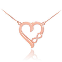 rose gold diamond infinity necklace