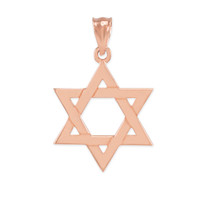 Rose Gold Jewish Star of David Pendant