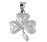 Clover Celtic Pendant in Silver