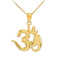 Gold Om Symbol Pendant Necklace