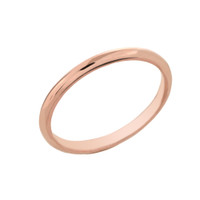 Rose Gold Classic Wedding Band - 2MM