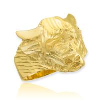 Gold Bull Taurus Ring