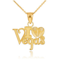 "Gold ""I Love Vegas"" Pendant Necklace"