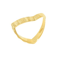Yellow Gold Diamond-Cut Thumb Ring
